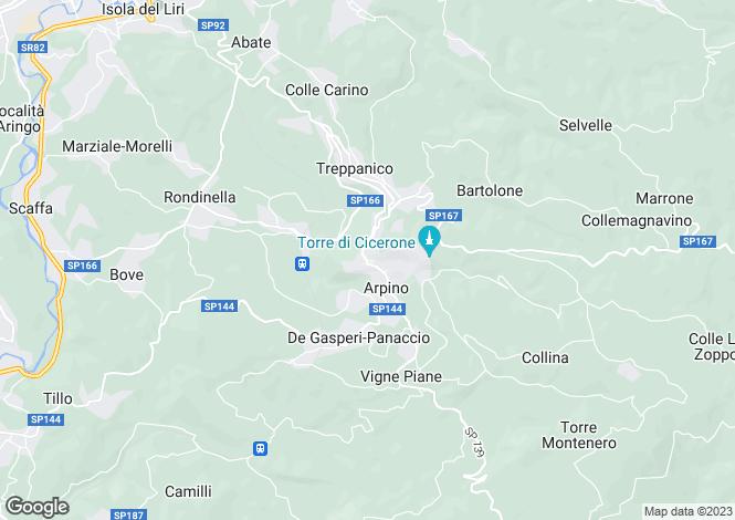 Map for Arpino, Frosinone, Lazio