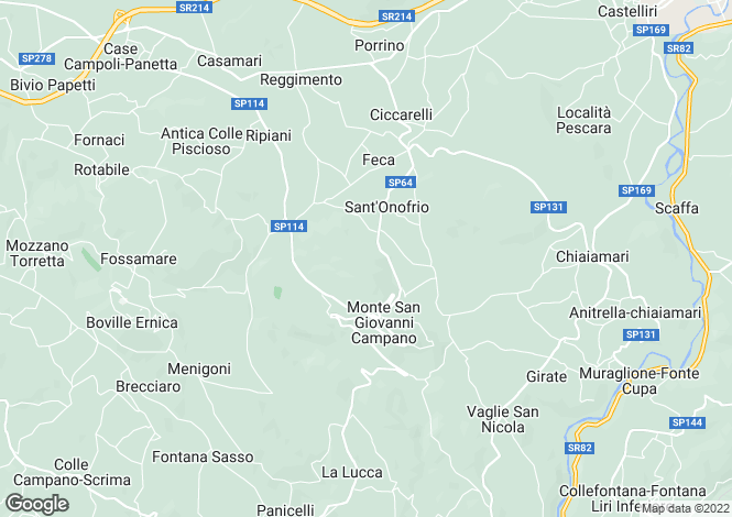 Map for Monte San Giovanni Campano, Frosinone, Lazio