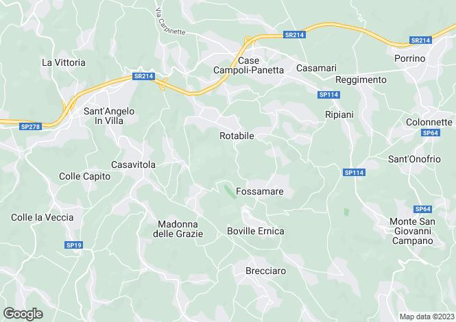 Map for Lazio, Frosinone, Boville Ernica