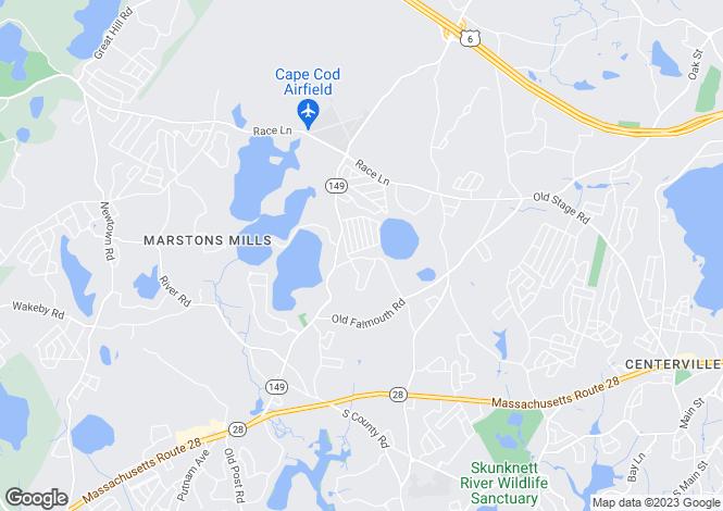 Map for USA - Massachusetts, Marstons Mills