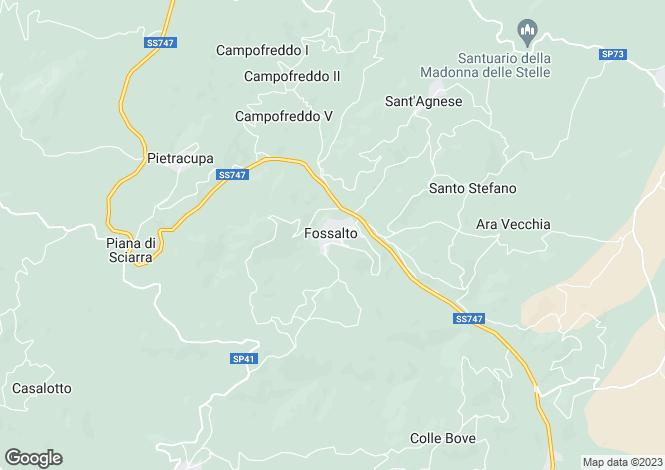 Map for Molise, Campobasso, Fossalto