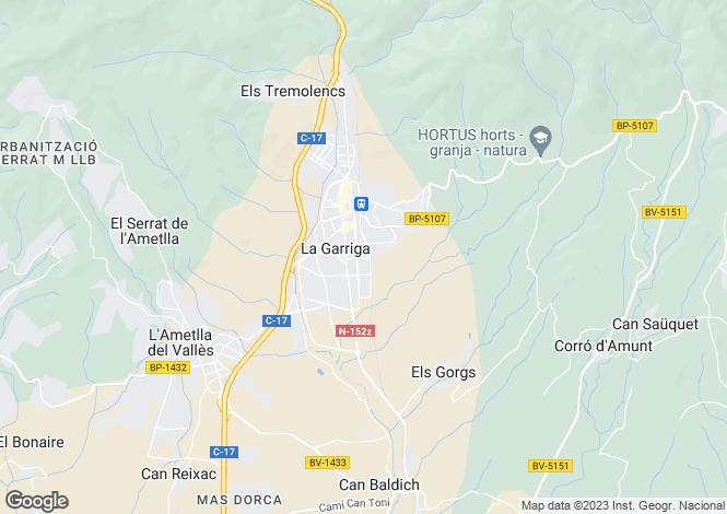 Map for La Garriga, Barcelona, Catalonia