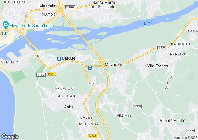 Map for Minho, Darque