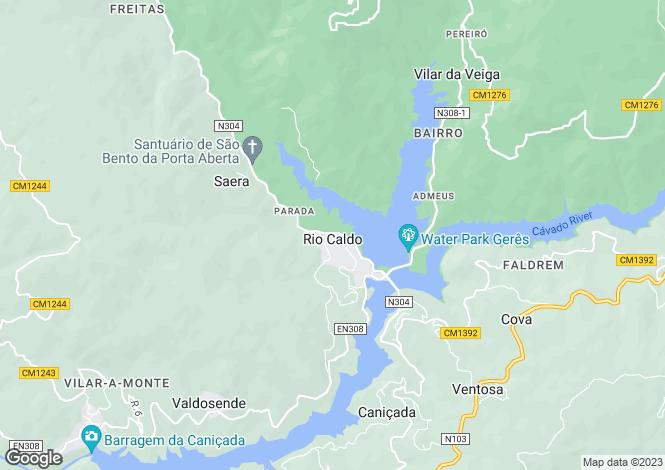 Map for Rio Caldo, Terras de Bouro, Braga