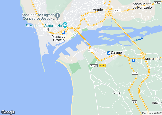 Map for Portugal,Viana do Castelo,Darque