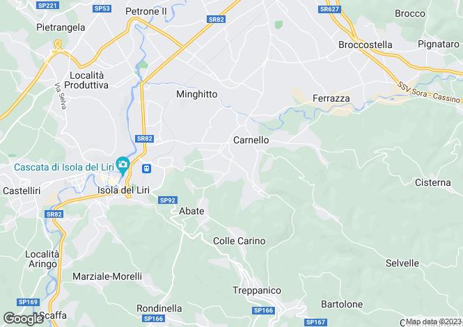 Map for Isola del Liri, Frosinone, Lazio
