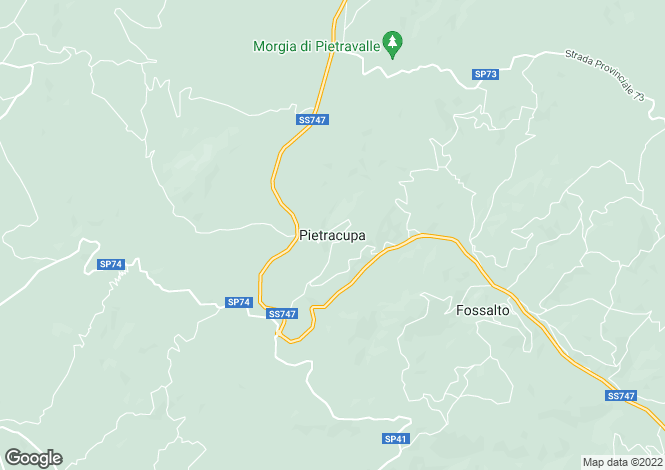 Map for Molise, Campobasso, Pietracupa