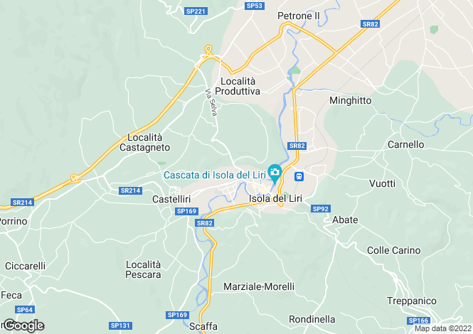 Map for Lazio, Frosinone, Isola del Liri