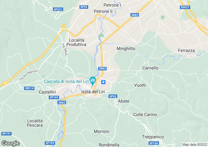 Map for Lazio, Frosinone, Isola del Liri