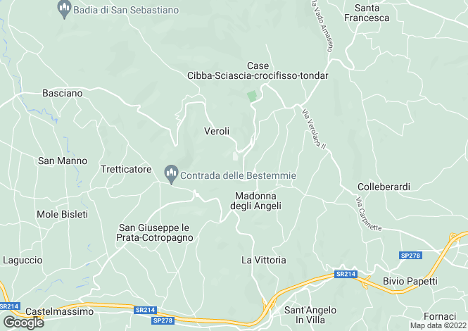 Map for Lazio, Frosinone, Veroli