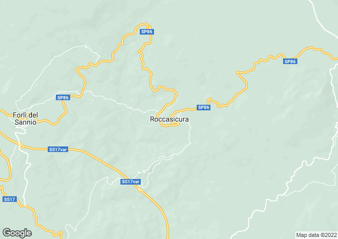 Map for Molise, Isernia, Roccasicura