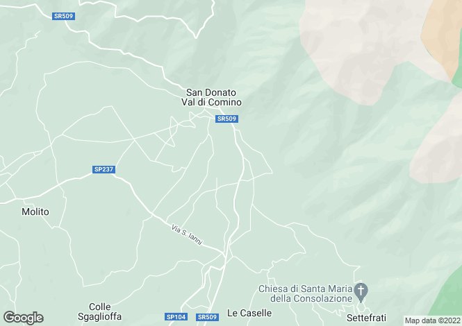 Map for Lazio, Frosinone, San Donato Val di Comino