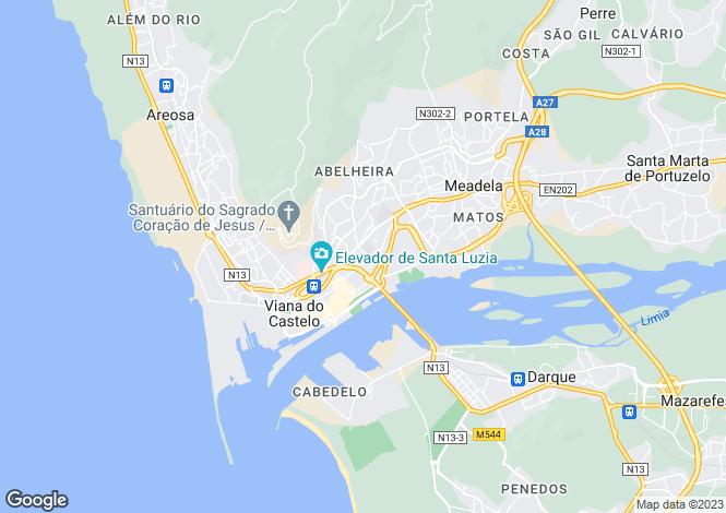 Map for Viana Do Castelo, Porto, Portugal