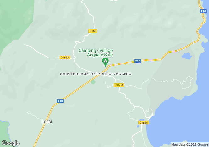 Map for SAINTE LUCIE DE PORTO VECCHIO ,France