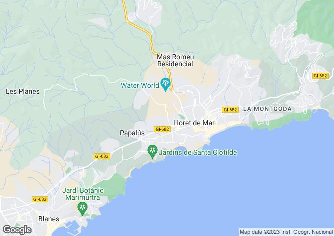 Map for Catalonia, Girona, Lloret de Mar