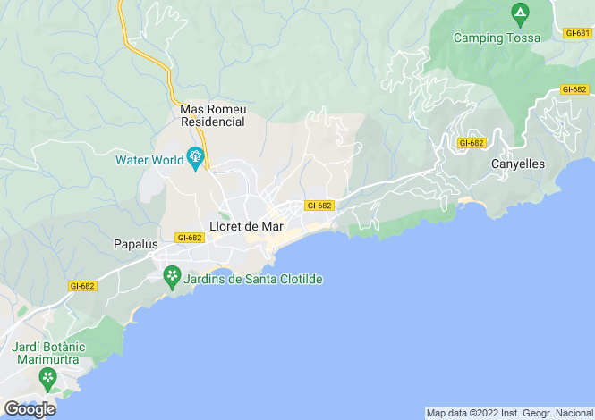 Map for Lloret de Mar, Girona, Catalonia