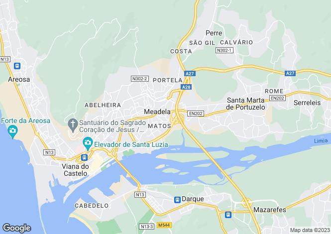 Map for Minho, Viana do Castelo