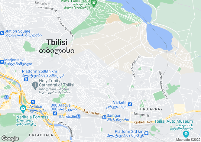 Map for T`bilisi
