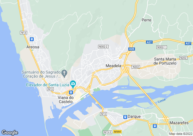 Map for Portugal,Viana do Castelo,Meadela