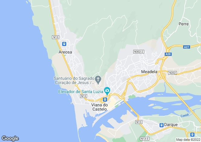 Map for Areosa,Portugal