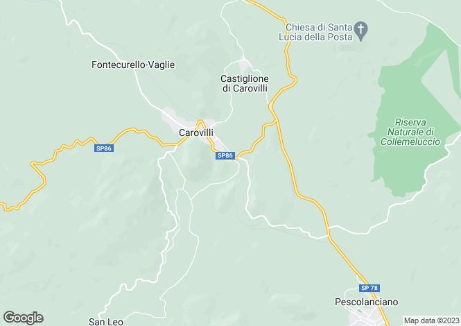 Map for Molise, Isernia, Carovilli