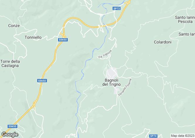 Map for Molise, Isernia, Bagnoli del Trigno