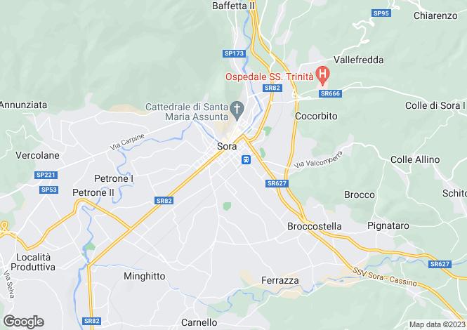 Map for Sora, Frosinone, Lazio