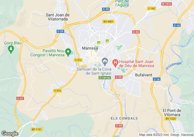 Map for Spain, Cataluña, Barcelona, Manresa