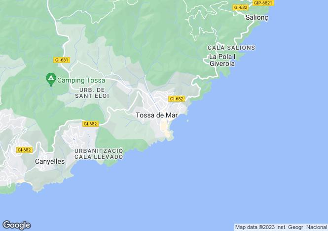 Map for Tossa de Mar, Catalonia, Spain