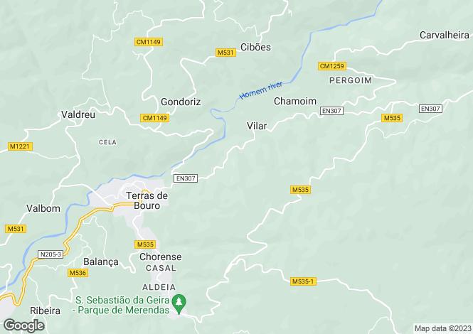 Map for Braga, Terras do Bouro