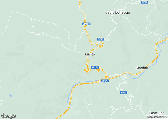 Map for Molise, Campobasso, Lucito