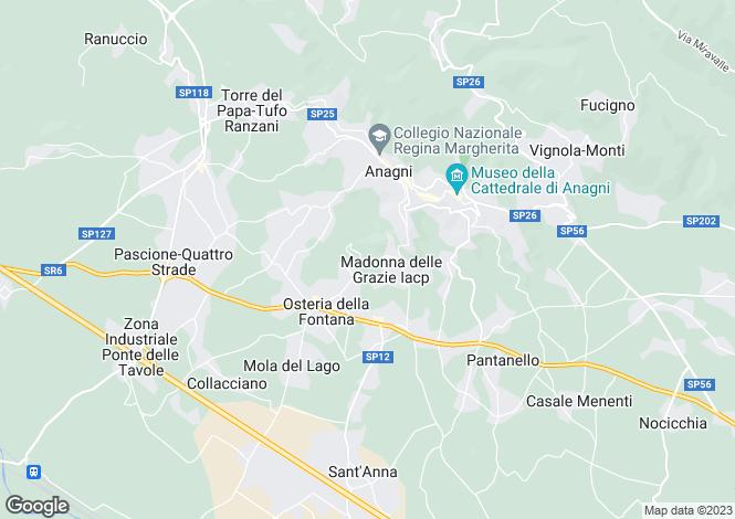 Map for Anagni, Frosinone, Lazio