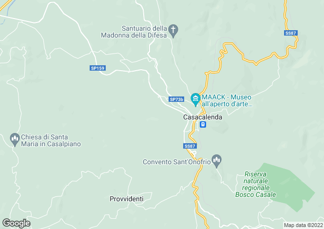 Map for Molise, Campobasso, Casacalenda