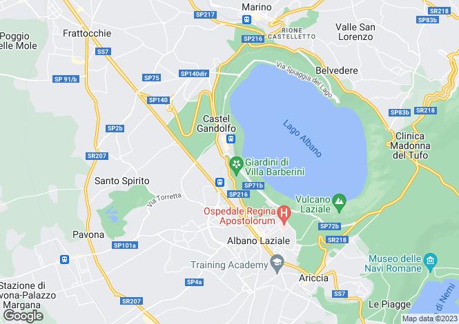 Map for Lazio, Rome, Castèl Gandolfo