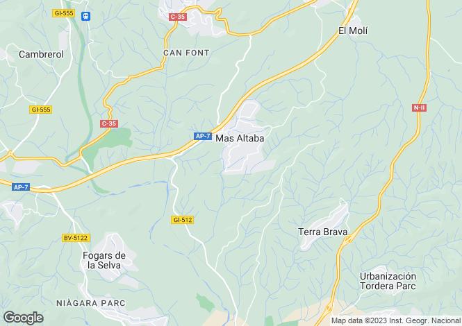Map for Catalonia, Girona, Maçanet de la Selva