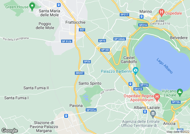 Map for Italy - Lazio, Rome, Marino