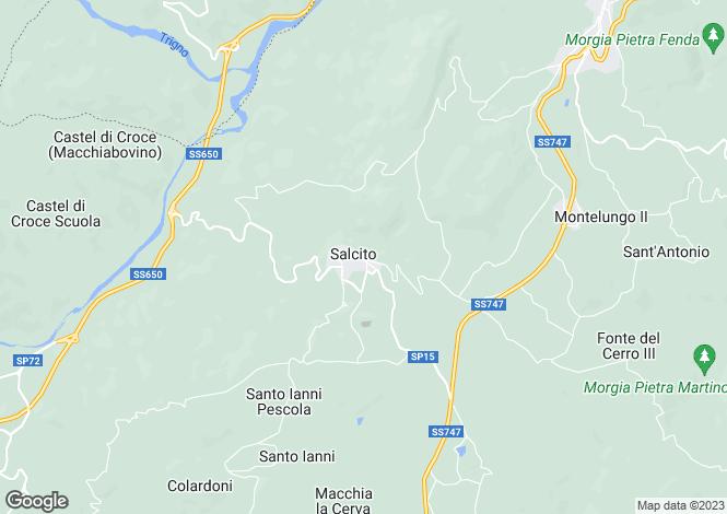 Map for Salcito, Campobasso, Molise