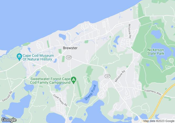 Map for USA - Massachusetts, Brewster
