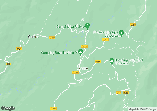Map for ZONZA ,France