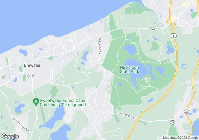 Map for Massachusetts, Brewster