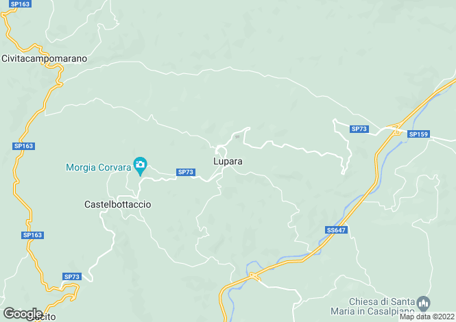 Map for Molise, Campobasso, Lupara