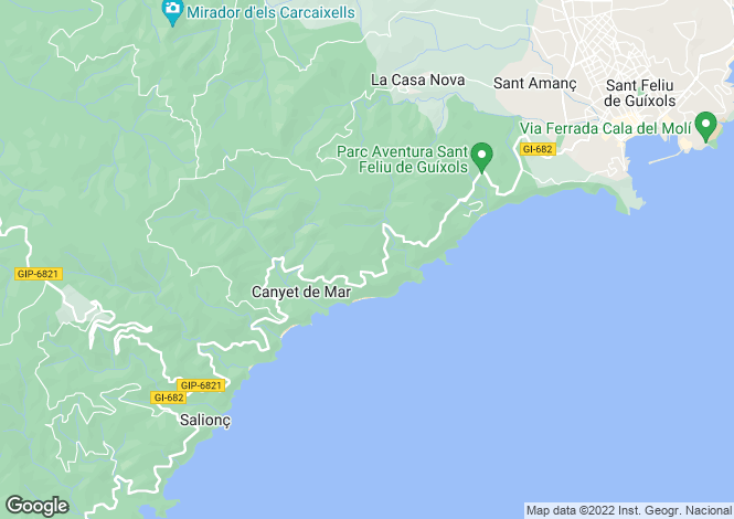 Map for Sant Feliu de Guíxols, Girona, Catalonia