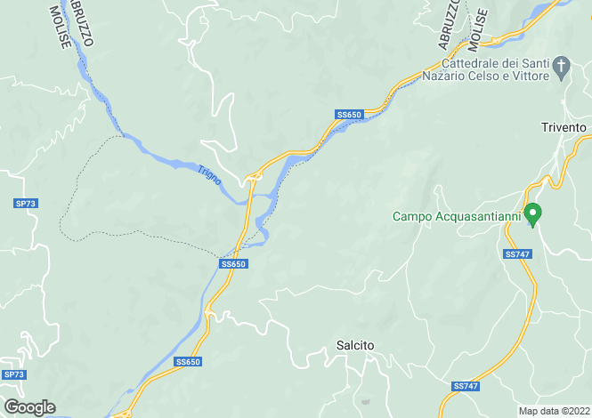 Map for Salcito, Campobasso, Molise