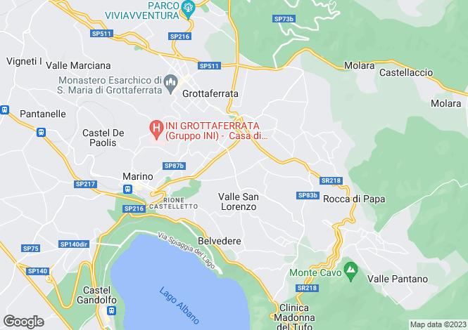 Map for Grottaferrata, Rome, Lazio