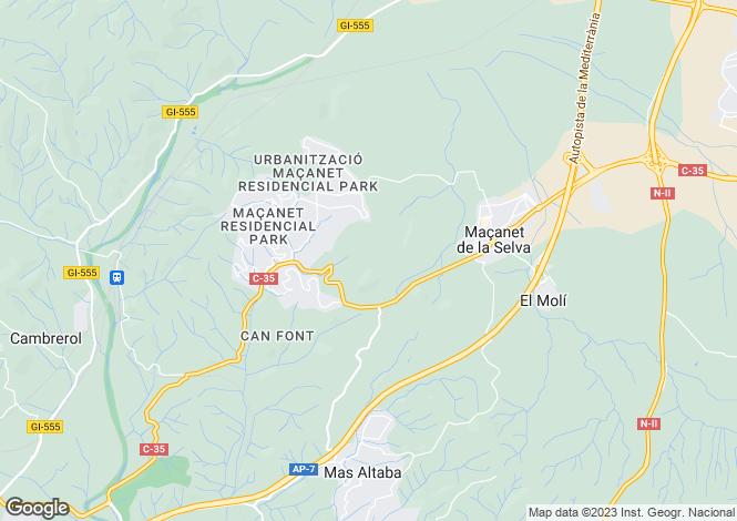 Map for Maçanet de la Selva, Girona, Catalonia