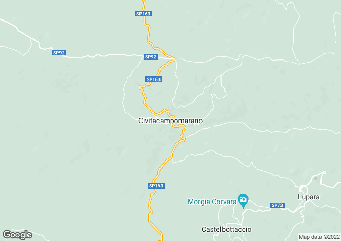 Map for Molise, Campobasso, Civitacampomarano