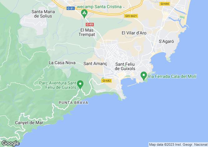 Map for Sant Feliu de Guíxols, Girona
