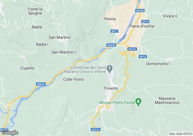 Map for Trivento, Campobasso, Molise