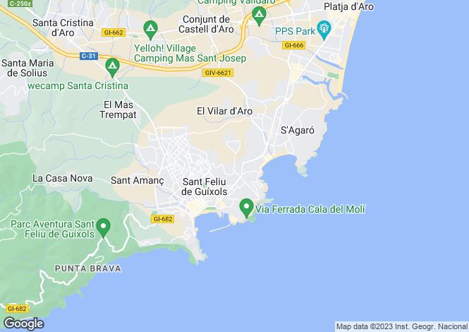 Map for Catalonia, Girona, Sant Feliu de Guíxols