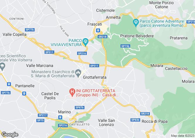 Map for Lazio, Rome, Grottaferrata